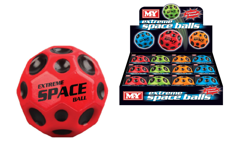 "65mm Pu Extreme Space Ball (4 Asst Cols) ""M.Y"" Col Box"