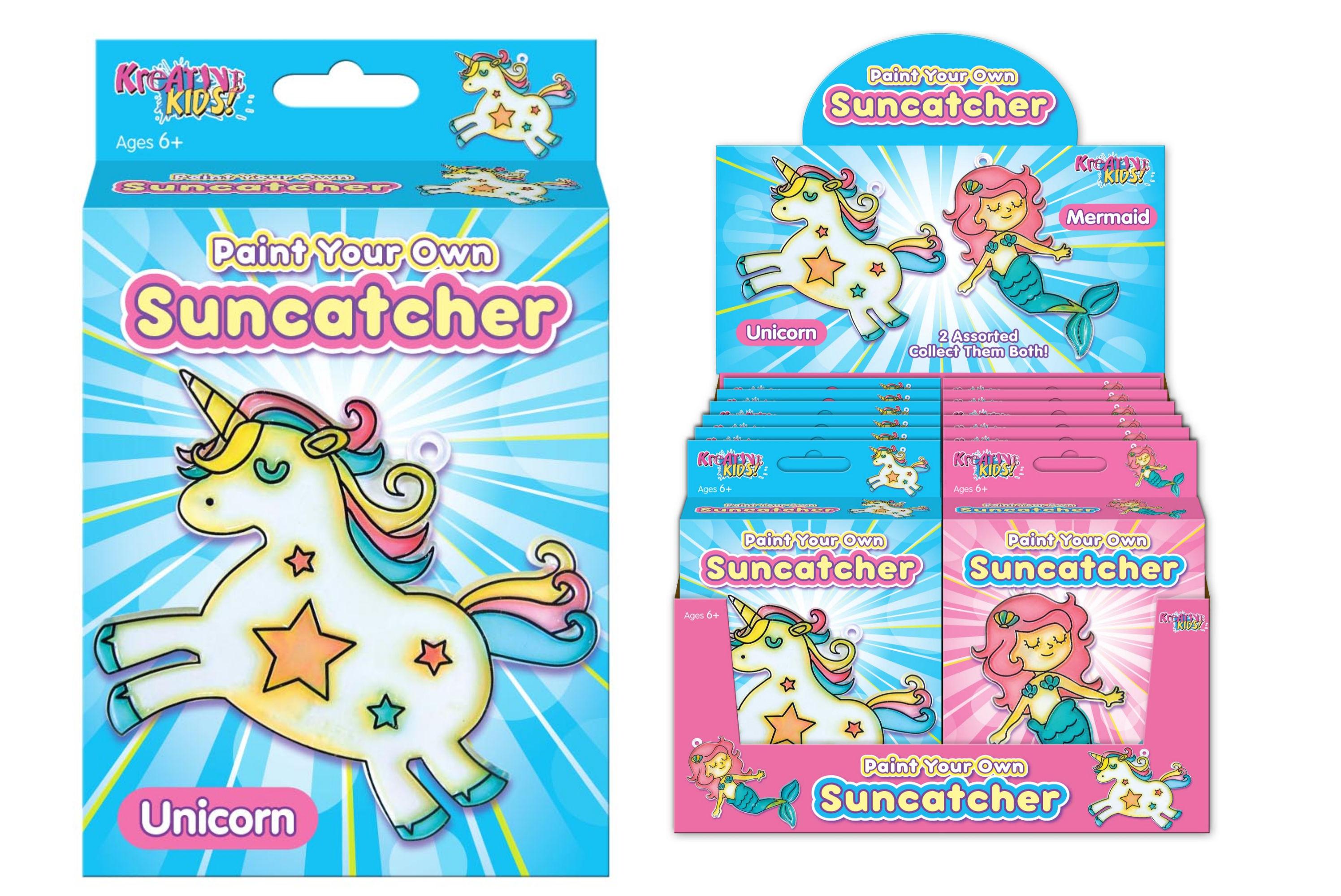 Paint Your Own Suncatcher (2 Asst) In Colour Box