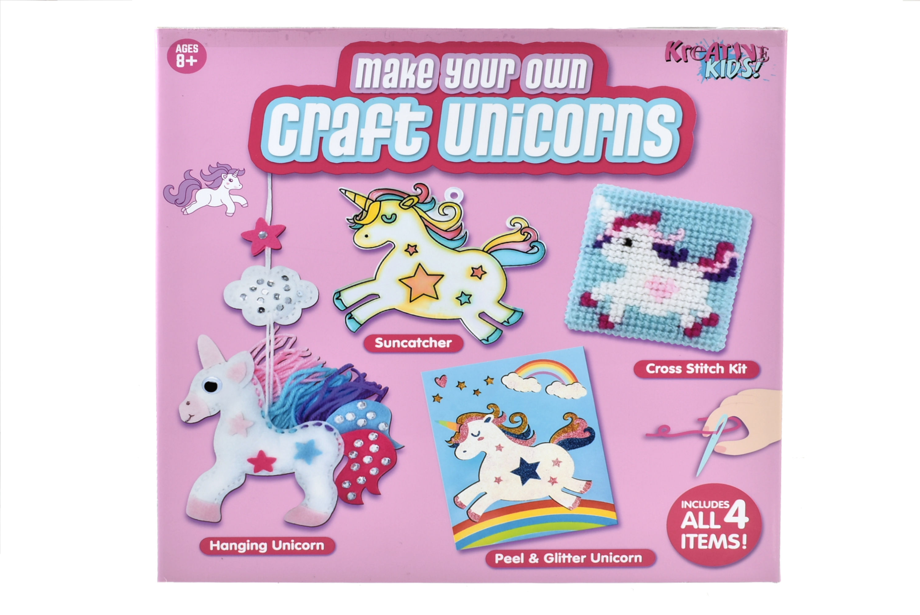 4 In 1 Craft Unicorn Playset In Colour Box