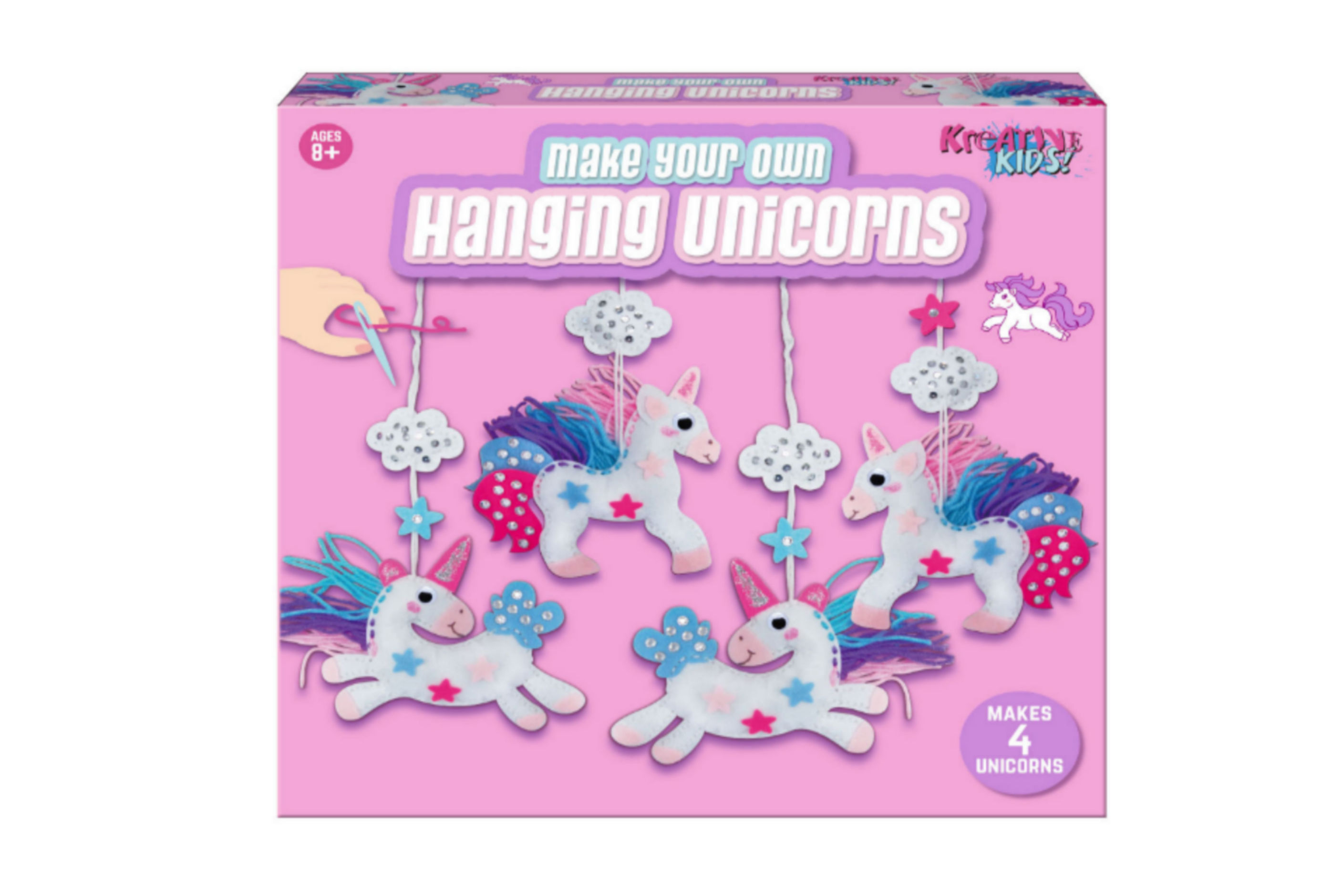Make Your Own Hanging 4pc Unicorns In Colour Box