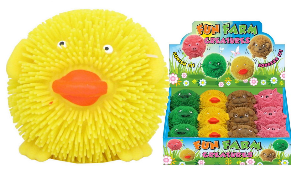 Squishy Farm Critters (4 Assorted) In Display Box