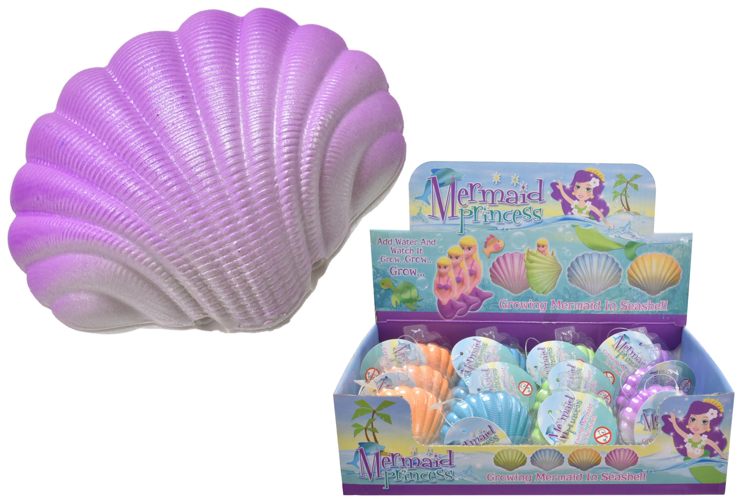 Small Growing Mermaid In Seashell In Display Box