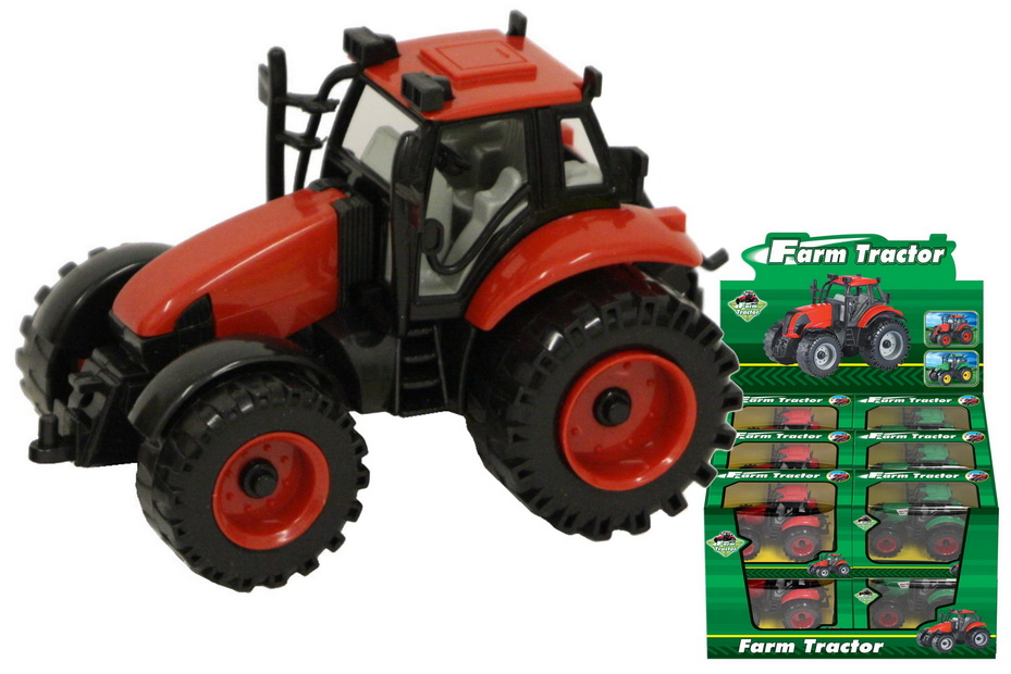 Plastic Tractor In Window Box In Display Box
