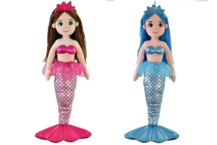 80cm Plush Standing Mermaid - 6 Assorted Colours