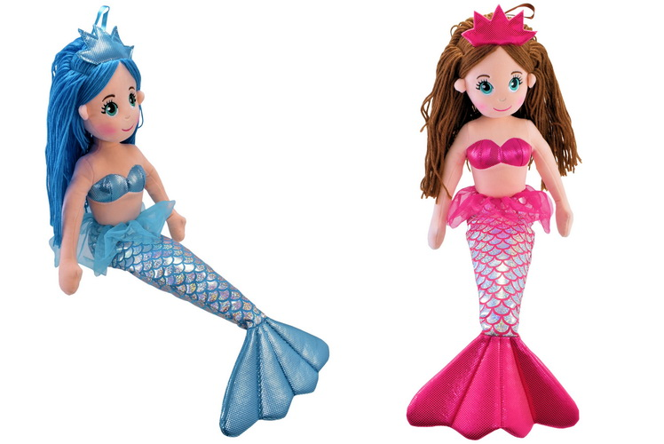 65cm Plush Sitting Mermaid - 6 Assorted Colours