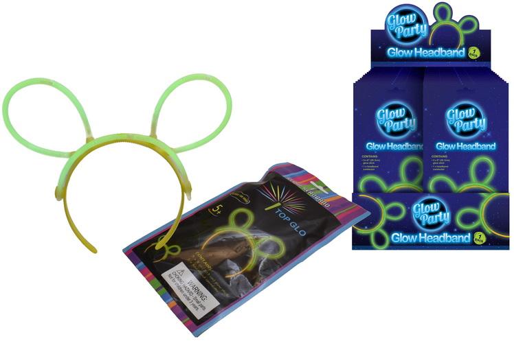 Glow Headband In Colour Foil Bag & Display Box