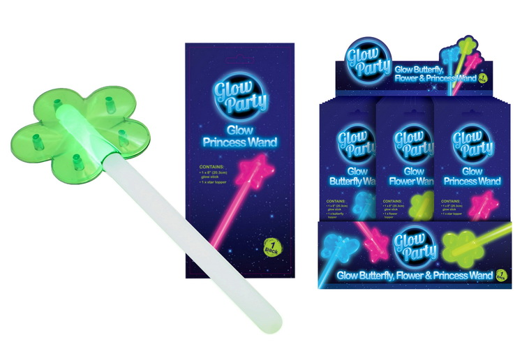 Glow Butterfly  Flower & Princess Wands In Display Box