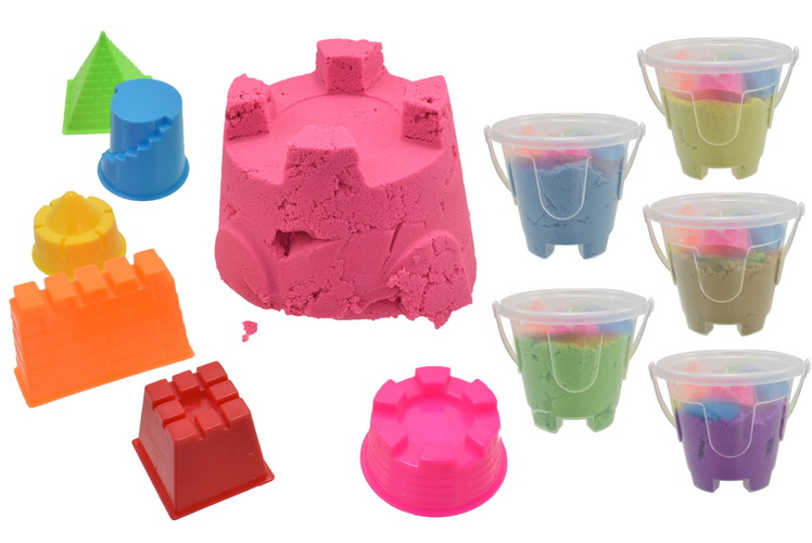 Bucket Of Moving Sand 6 Assorted Colours
