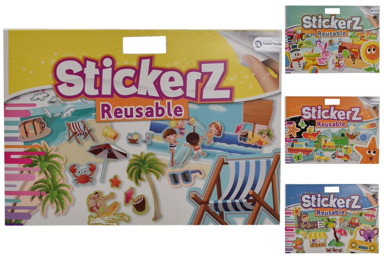 Stickerz - Reusable Sticker Book Medium - 4 Assorted