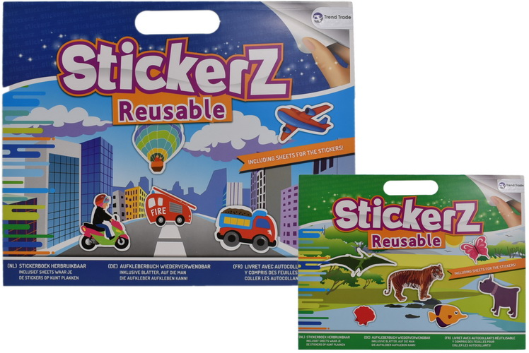 Stickerz - Reusable Sticker Book Large - 2 Assorted