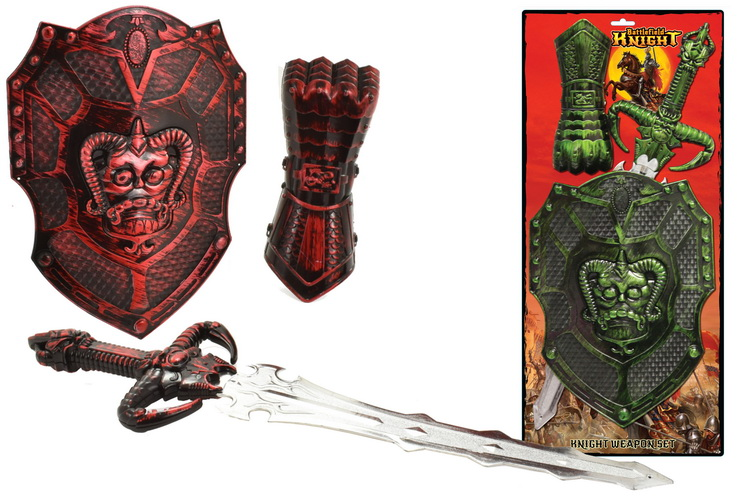 Knight Weapon Set On Tie Card