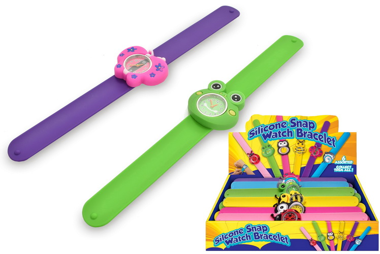 Silicone Snap Watch Bracelet - 6 Assorted In Display