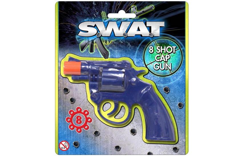 "Plastic Cap Gun On Blistercard ""Swat"""