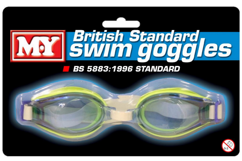"""M.Y"" British Standard Goggles On Blistercard"
