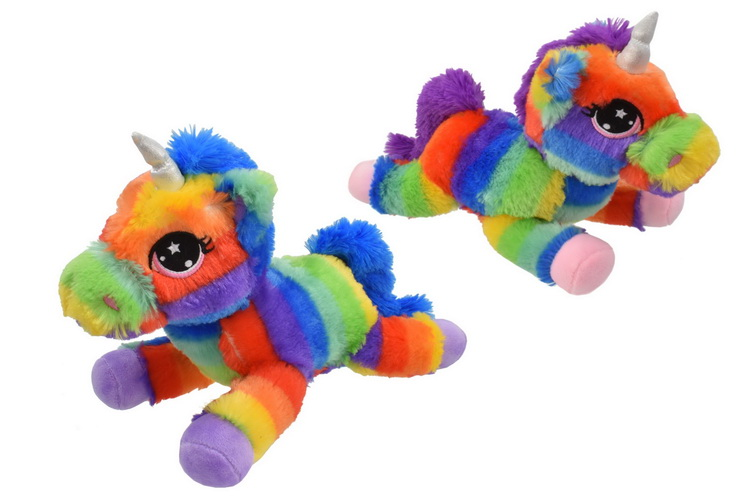 Plush Multi Coloured Unicorns
