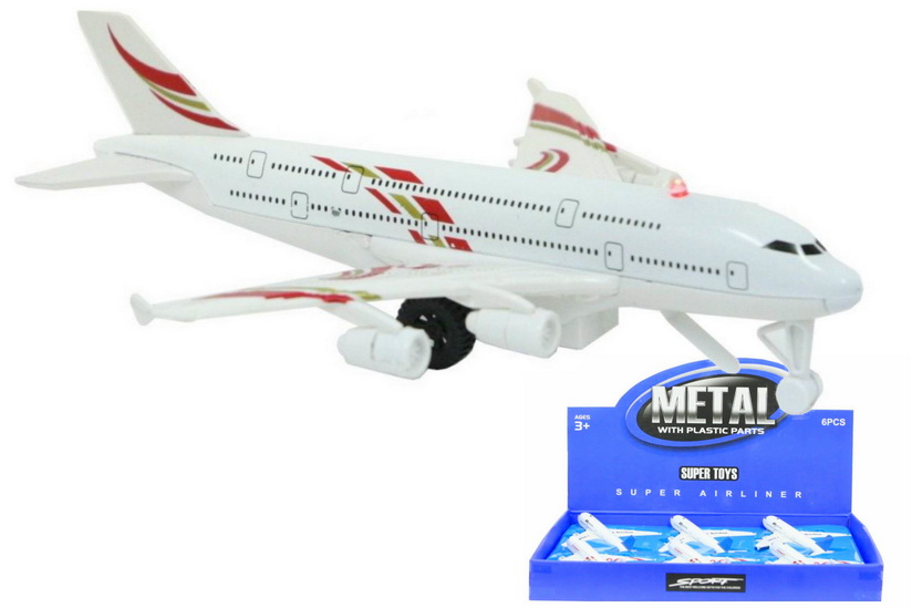 Die Cast Pull Back Aeroplanes With Sound In Display Box