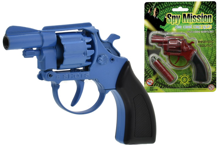 "Die Cast 8 Shot Cap Gun (2 Assorted) ""Spy Mission"""