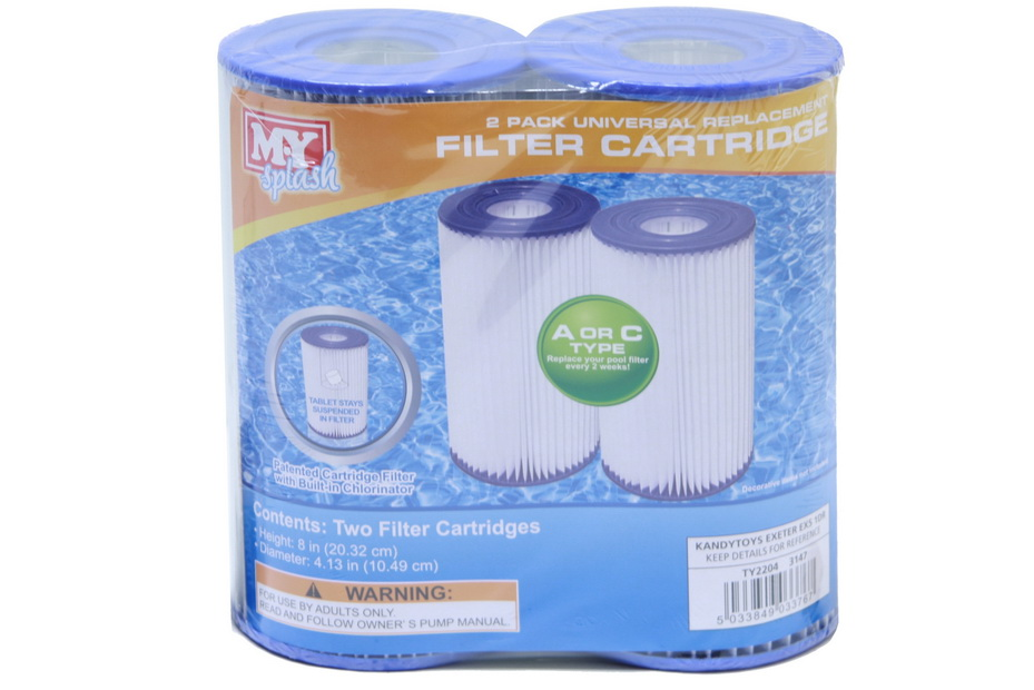Filter Cartridge Type A/C Twin Pack (My & Intex Compat)