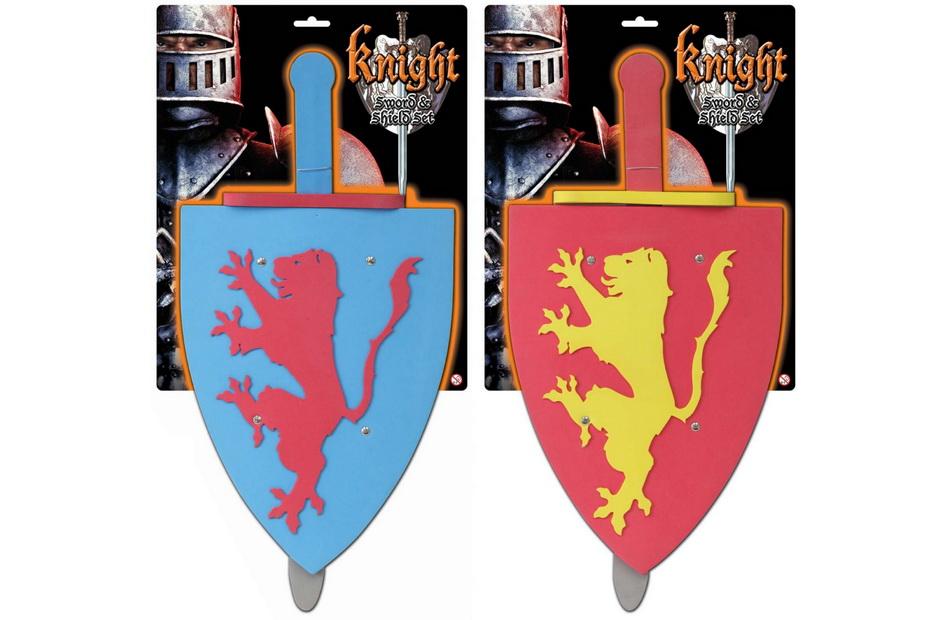 "Eva Knight Sword & Shield Set On Tie Card ""Knight Serie"