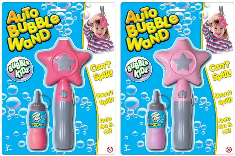 """Auto Bubble Wand With Filler On Blistercard """"Bubbles"""""""