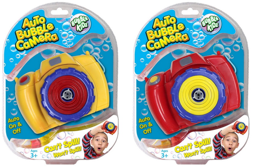 Auto Bubble Camera With Filler -Double Clam Blistercard