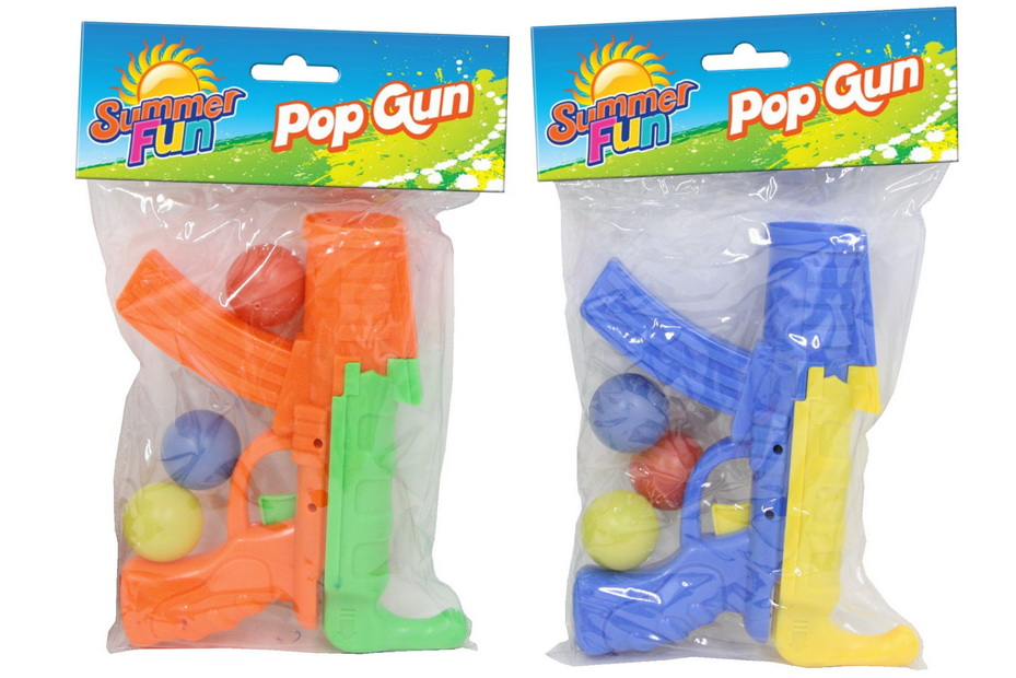 "Pop Gun In Pvc Bag Headercard 2 Asst Cols ""Summer Fun"""