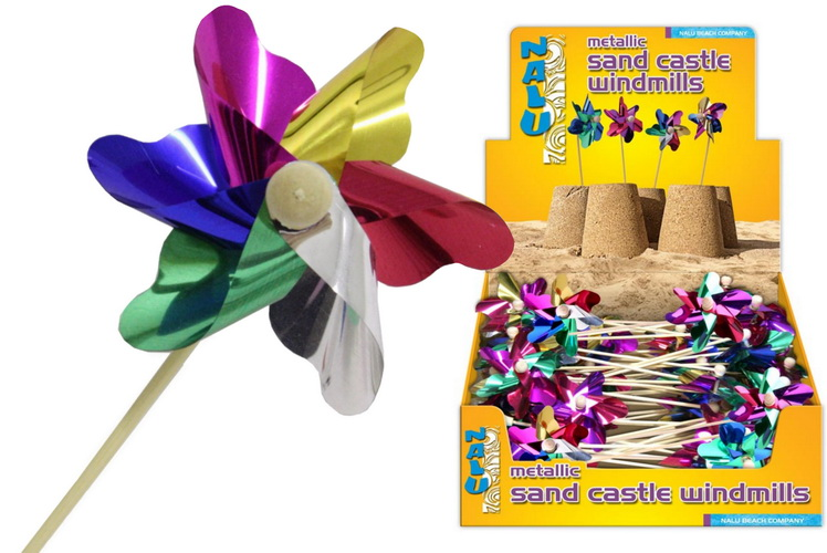 Metallic Sand Castle Windmill - Display Box