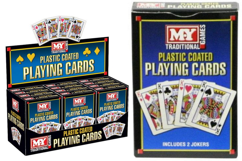 """""""M.Y"""" Premium Plastic Coated Playing Cards In D/Box"""