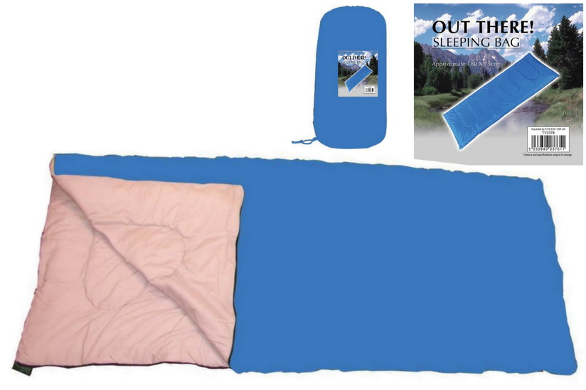 """Sleeping Bag 180cm x 75cm (170gsm) """"Out There"""" Range"""