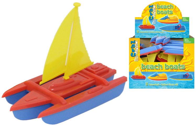 "3 Assorted Plastic Neon Boats In Display Box - ""Nalu"""