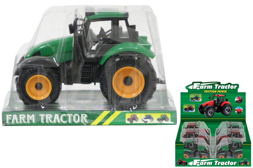 Plastic Friction Tractor (Pvc Platform) In Display Box