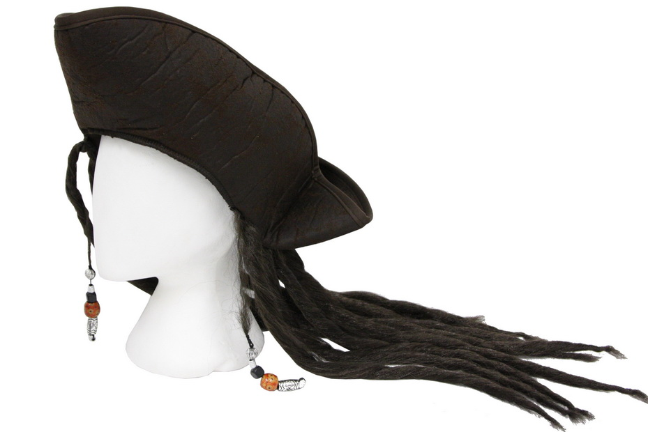 Pirates Hat With Hair - Adult