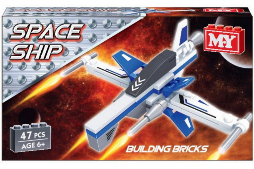 "Space Ship Brickset - 2 Assorted In Display Box ""M.Y"""