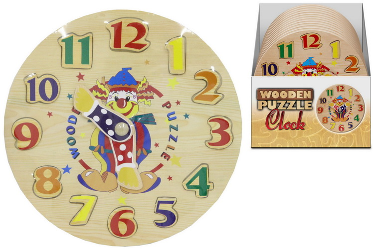 Clock Wooden Puzzle In Display Box
