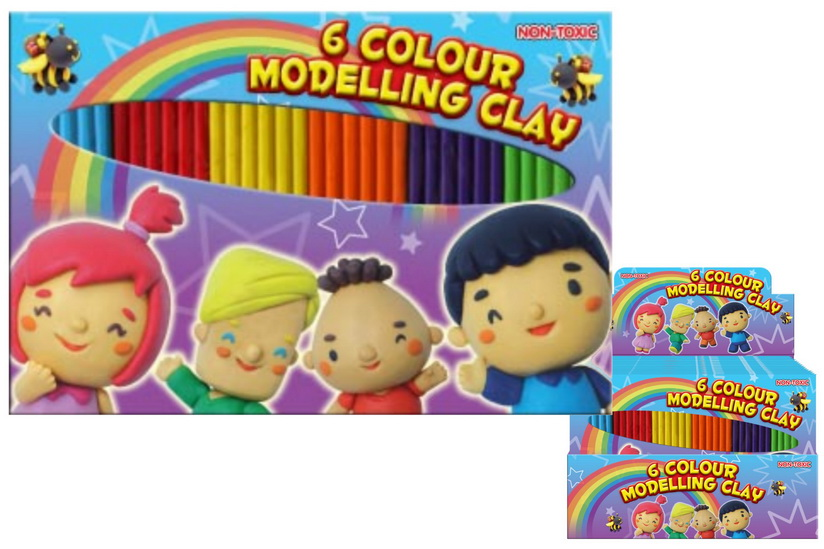 100g 6 Colour Modelling Clay In Display Box