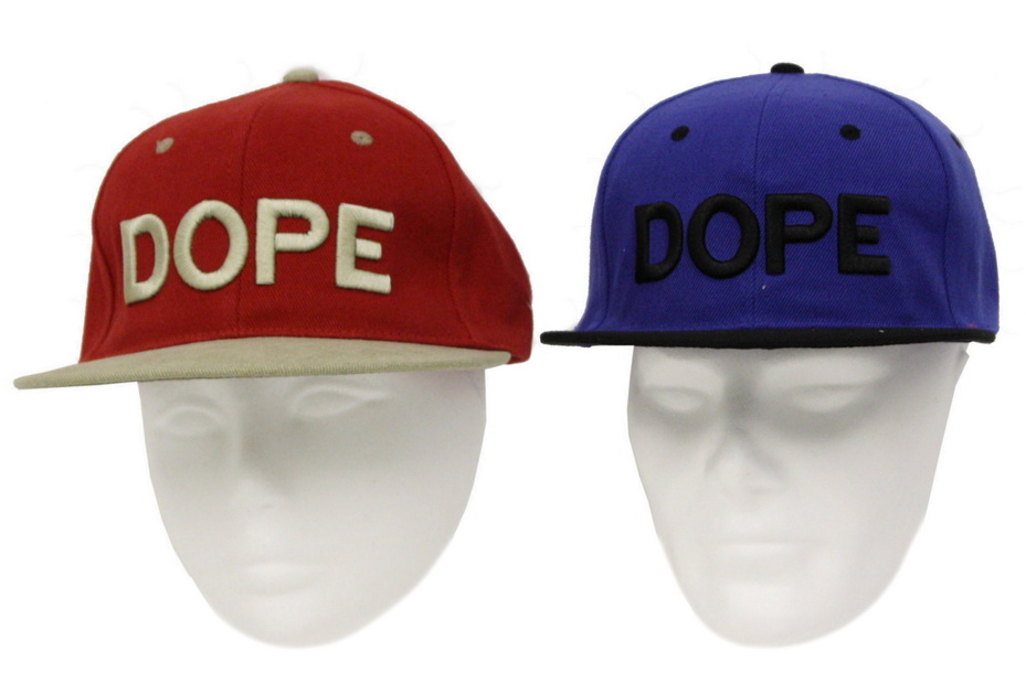 Snap Hat 'Dope' 3d Embroidery 2 Asst Colours