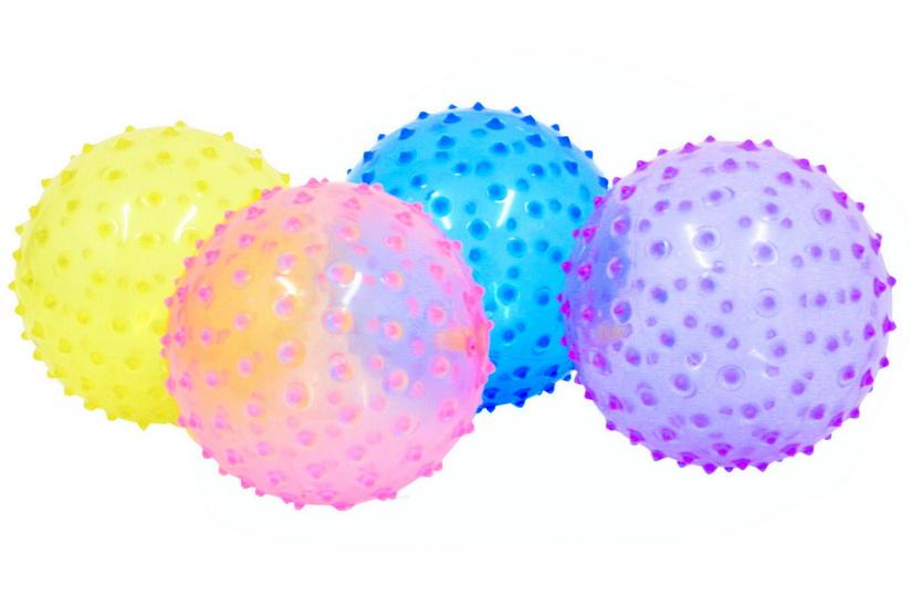 """Transparent Spike Balls (Deflated) Asst Colours 6""""/70g"""