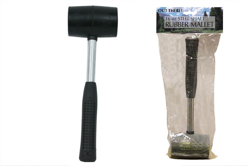"Rubber Mallet - Steel Shaft - 16oz ""Out There"""