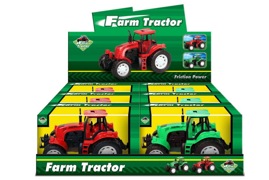 "Pp Plastic Tractor In Window Box / Dbx ""Farm Series"""