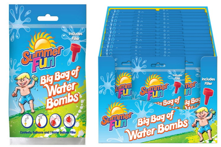"Waterbombs With Filler In Pvc Bag/Dbx ""Summer Fun"""