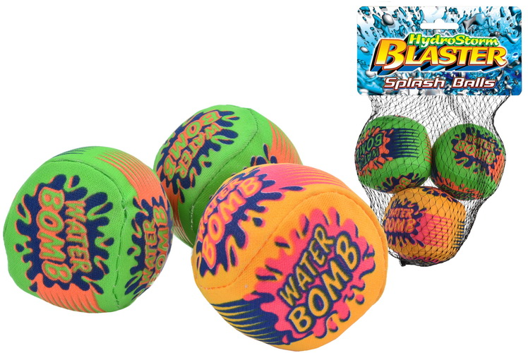 3pc Splash Balls In Net Bag With Headercard -Hydrostorm