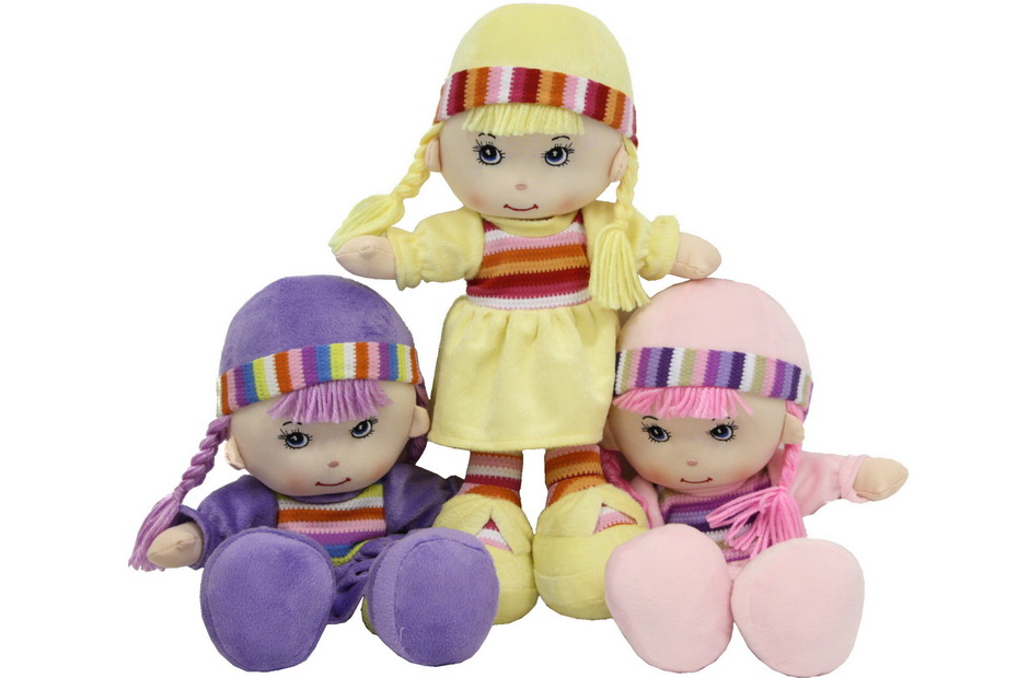"""15"""" Soft Body Rag Doll - 3 Assorted Colours"""