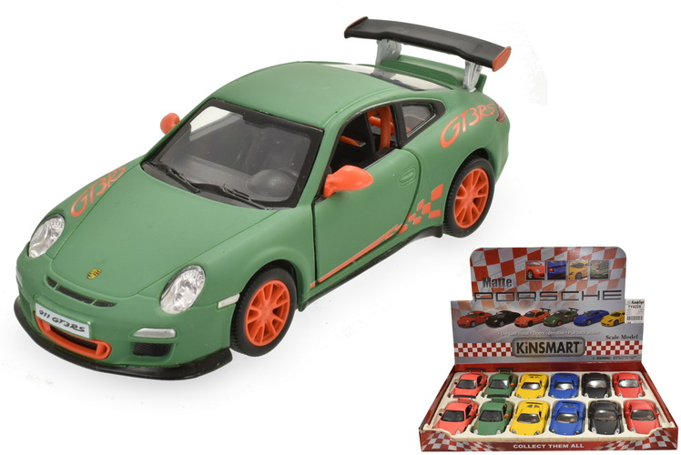 1:36sc D/C Porsche Matt Finish Pull Back In Dbx - 6 Ass