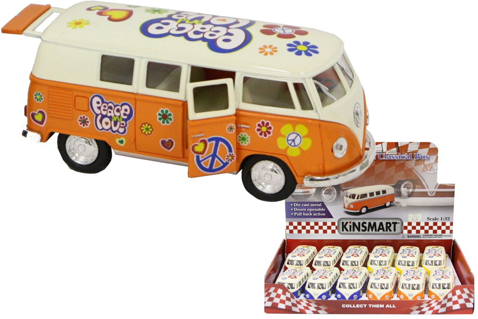 1:32sc D/C Vw Campervan With Tampo Print In Dbx