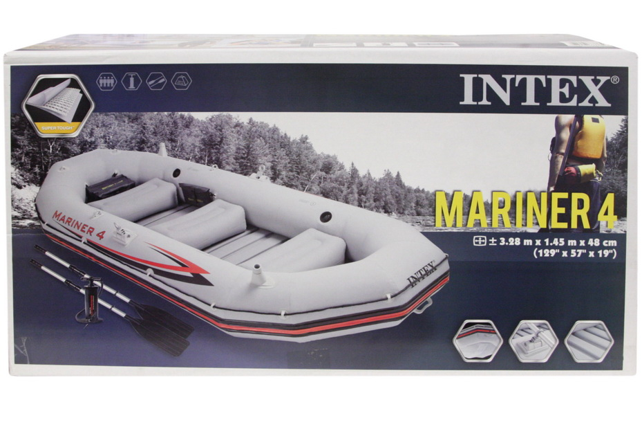 "129"" x 57"" x 19"" Mariner 4 Boat Set With Allum Oars"