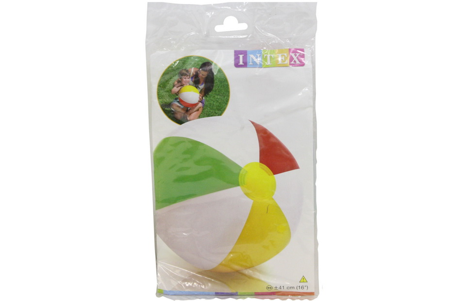 """16"""" Glossy Panel Beach Ball In Polybag"""