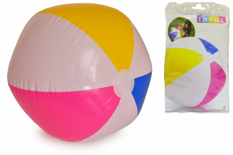 """24"""" Glossy Panel Beach Ball In Polybag"""