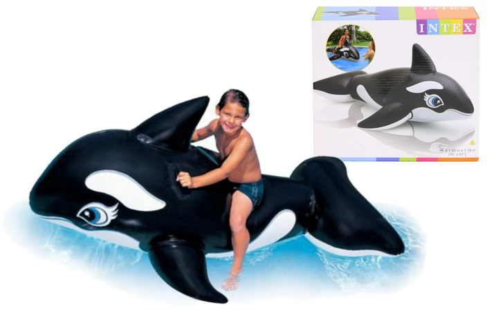"""76"""" x 47"""" Whale Ride On (Np) In Shelf Box"""