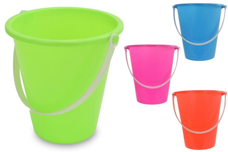 "12.5cm/5"" Round Neon Colour Bucket - Assorted Colours"
