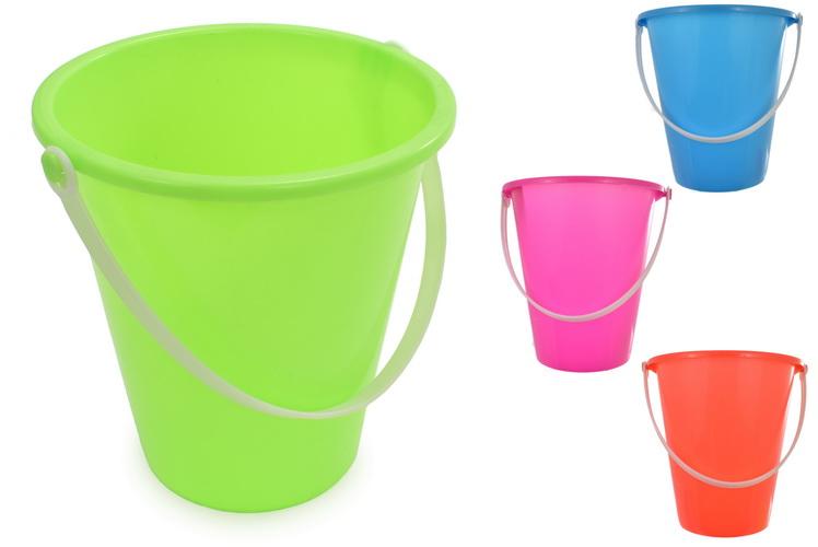 "17cm/7"" Round Neon Colour Bucket - Assorted Colours"
